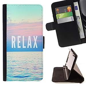 - Relax - - Monedero PU titular de la tarjeta de cr?dito de cuero cubierta de la caja de la bolsa FOR Samsung Galaxy Note 4 IV Retro Candy
