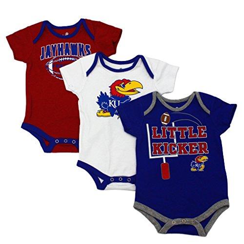 GEN2 Baby Kansas Jayhawks Little Kicker 3 Pack Bodysuit Set
