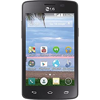 TracFone LG Lucky No Contract Phone - Retail Packaging - Black