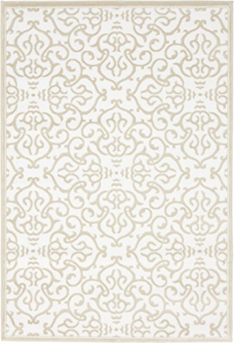 Modern Vintage Inspired Area Rugs Snow White 4' x 6' FT Himalaya Collection Rug - rugs for living room - rugs for dining room & bedroom - Floor Carpet
