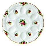 Royal Albert Old Country Roses Deviled Egg Dish, 11.5''