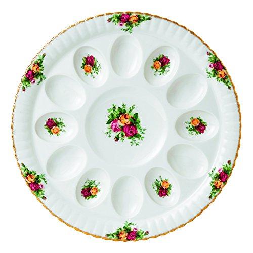 Royal Albert Old Country Roses Deviled Egg Dish, 11.5