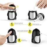 Walkas Mini Portable 7 Color LED Light Cool Mist Humidifier with Timed auto shutdown for Office Home (Black)