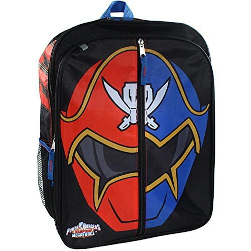 Power Rangers Boy's 16 inch Backpack - Red/Blue Ranger -