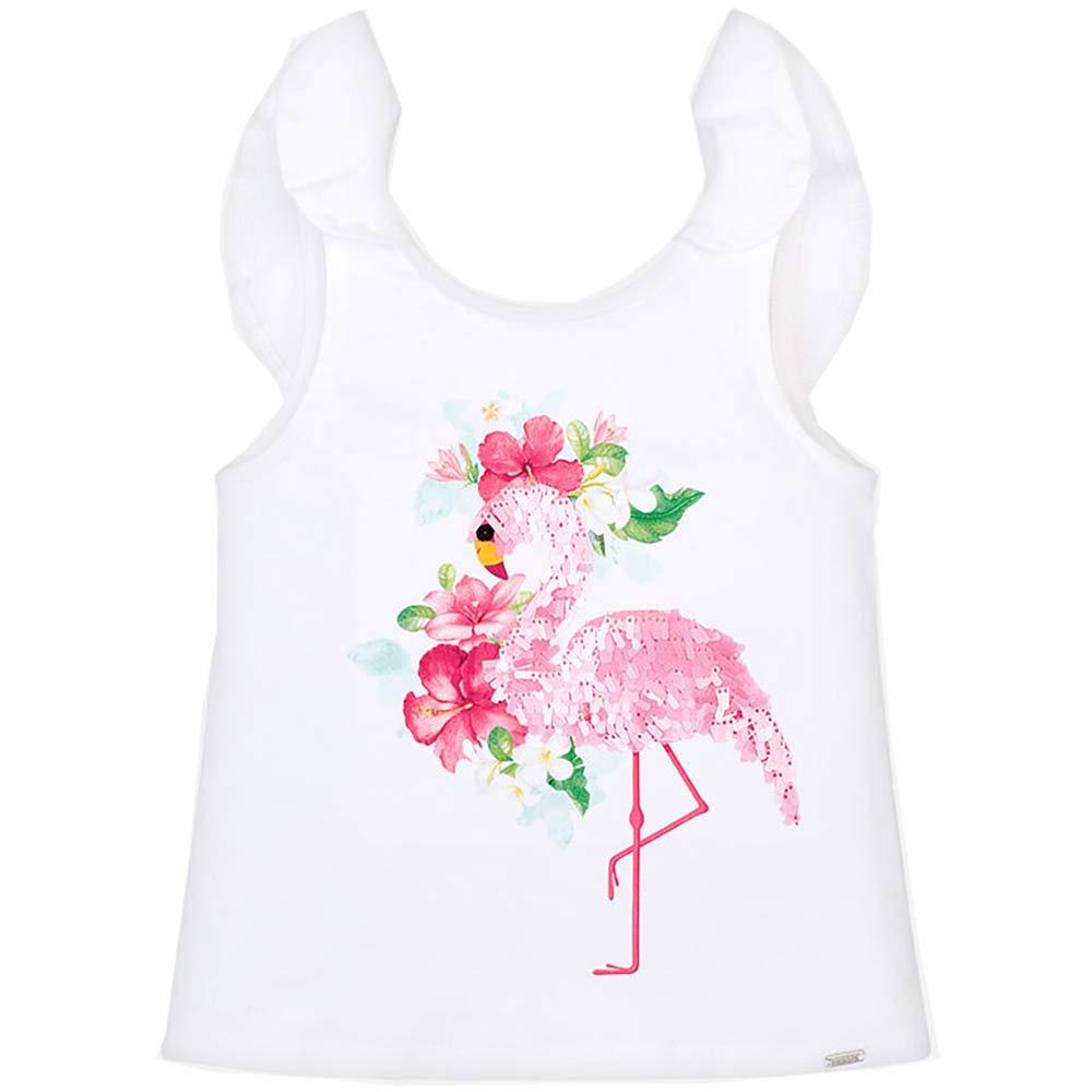 Mayoral T-Shirt 3022 Bambina Bianco