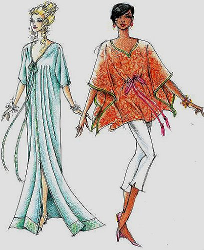 Amazon.com: Versatile Hawaiian Caftan / Tunic Sewing Pattern #315 ...