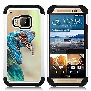 For HTC ONE M9 - turkey tropical blue bird nature Easter Dual Layer caso de Shell HUELGA Impacto pata de cabra con im????genes gr????ficas Steam - Funny Shop -