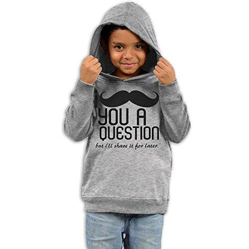 ZhiqianDF Boys I Mustache You A question Classic Hoodies3 Toddler - Frames Kid Glasses Cudi