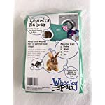 """Wheeky Pets Laundry Helper, Laundry Bag for Pet Beds, Fleece, C&C Cage Liners, Midwest Cage Liners and More, for Guinea Pigs, Rabbits and Small Pets, Green/White, Size 29"""" W x 31"""" L 6"""