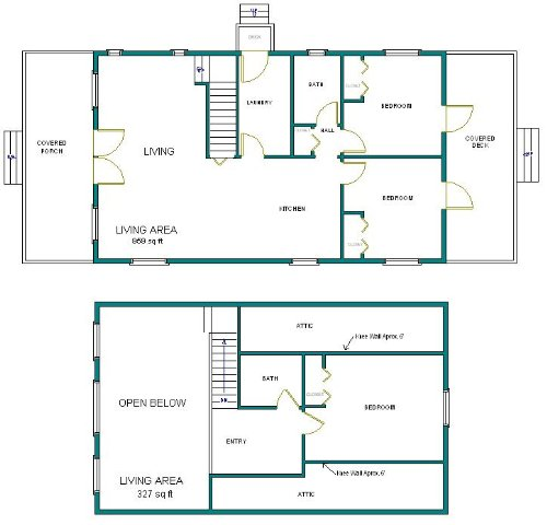 24x40 cabin w loft plans package blueprints material for 2 bedroom cabin plans with loft