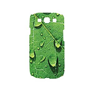 Green Leaf Blue Snap on Plastic Case Cover Compatible with Samsung Galaxy S3 GS3