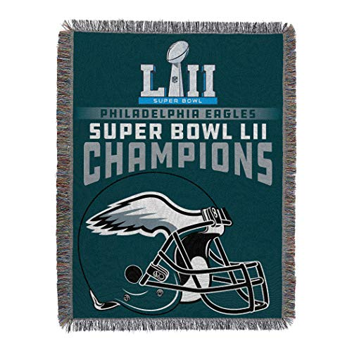 The Northwest Company Officially Licensed NFL Philadelphia Eagles Super Bowl 52 Champions Woven Tapestry Throw Blanket, 48