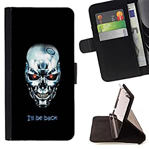 BETTY - FOR Samsung Galaxy S5 Mini, SM-G800 - I'm Back Termnator - Style PU Leather Case Wallet Flip Stand Flap Closure Cover