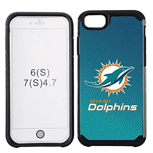 Miami Dolphins Football Case (NFL Miami Dolphins Gradient Football Pebble Grain Feel iPhone 7 Case)