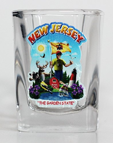 (New Jersey State Montage Square Shot Glass)
