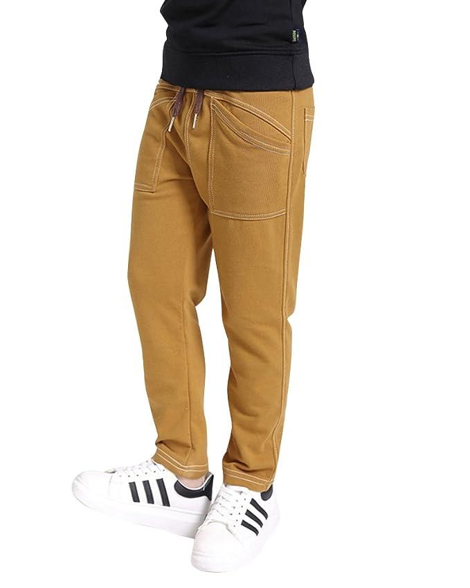 DianShao Pantaloni Lunghi Pantaloni Sportivi da Bambini con Cintura Elastica Pantaloni per Ragazzi