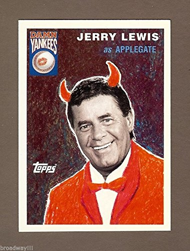 Jerry Lewis 'DAMN YANKEES' as 'The Devil' 1995 Topps Collector's Baseball Card