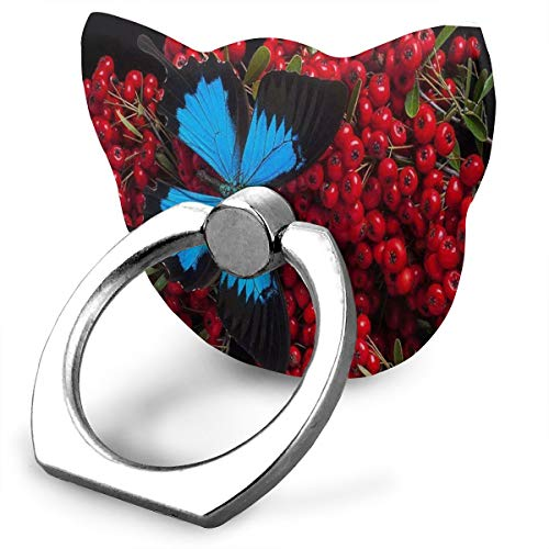 Ring Holder Fruity Treat Butterfly Cat Type Ring Mobile Phone Holder Adjustable 360° Rotation Phone Stand for IPad Phone X/6/6s/7/8/8 Plus/7, Galaxy S9/S9 Plus/S8/S7 Android Smartphone