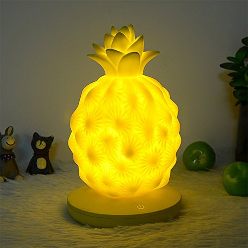 OOFAY Pineapple Lamp Light USB Powered LED Touch Bedside Lamp Cute Kawaii Pineapple Lamp Party Decorations Night Light,Yellow by OOFAY