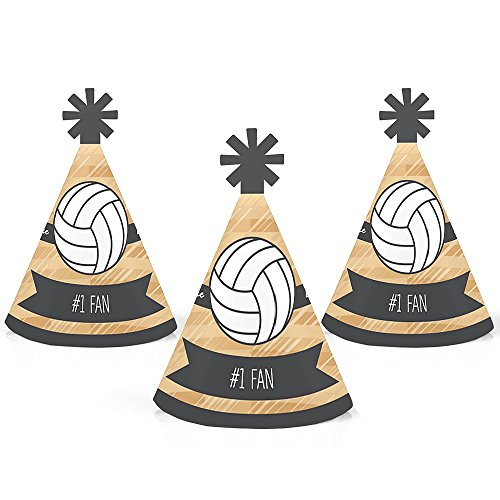 olleyball - Mini Cone Baby Shower or Birthday Party Hats - Small Little Party Hats - Set of 10 ()