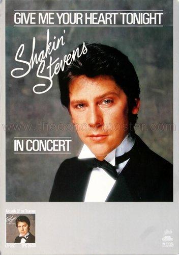 Shakin' Stevens - The Bop Wont Stop 1983 - Poster, Concertposter, Concert