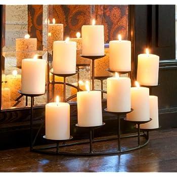 Amazoncom Southern Enterprises 10 Candle Candelabra Matte Black