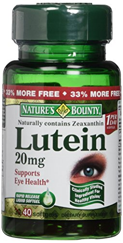 Nature039s Bounty Lutein 20mg 40 Softgels Pack of 4 Discount