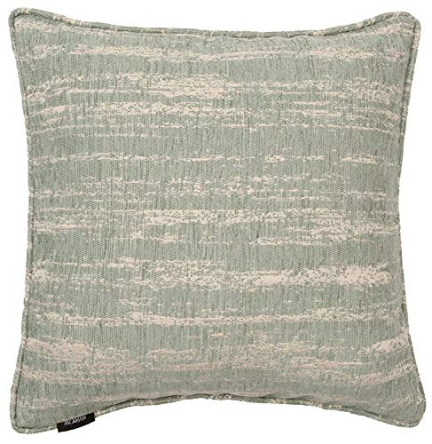 McAlister Textiles Textured Chenille | Pillow Cover in Duck Egg Blue | Square 24x24 Inches | Metallic Linen Decorative Throw Cushion Sham | Modern Couch & Bed Accent, Rustic Decor