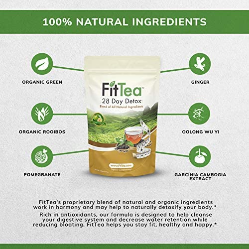 The ORIGINAL Fit Tea 28 Day Detox Tea, Herbal Tea for Colon and Body Cleanse 2