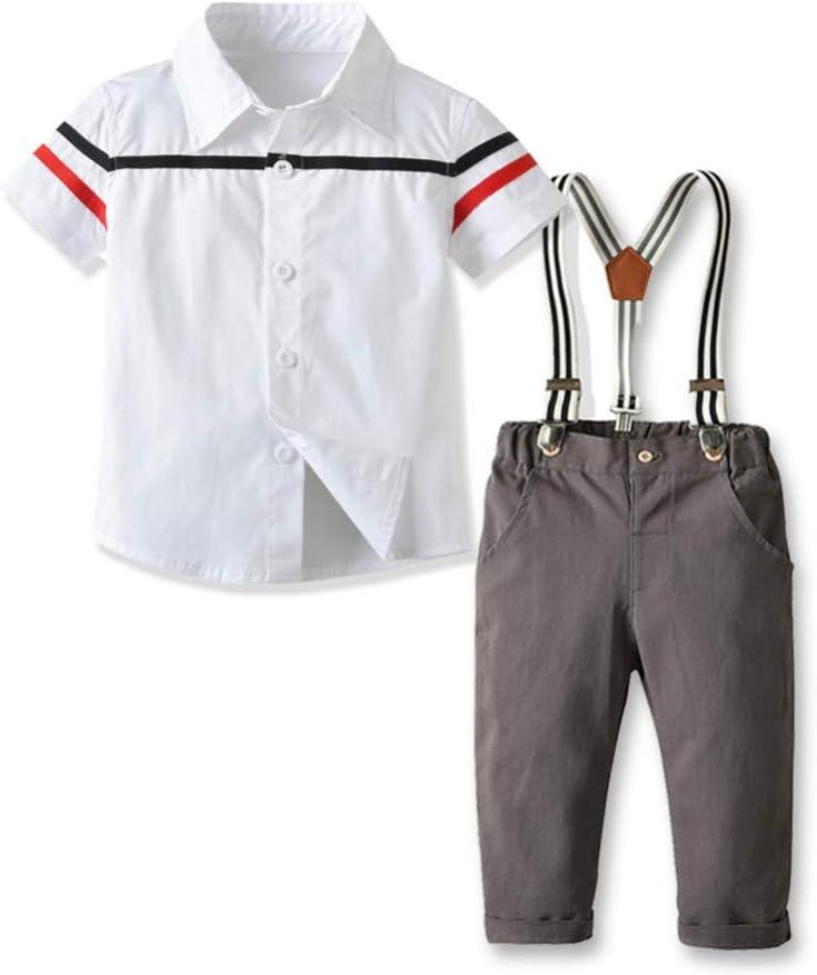 AEPEDC Ropa Infantil para niños Camisa Blanca + pantalón ...