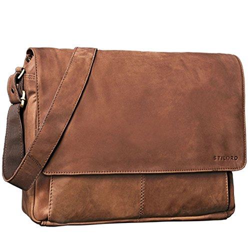 STILORD 'Lonzo' Vintage Messenger Bag Leather Men Women 15'6 inch Laptop...