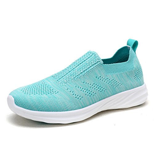 DREAM PAIRS Women's Baby Blue Slip on Walking Shoes 171114-W Size 5 M US