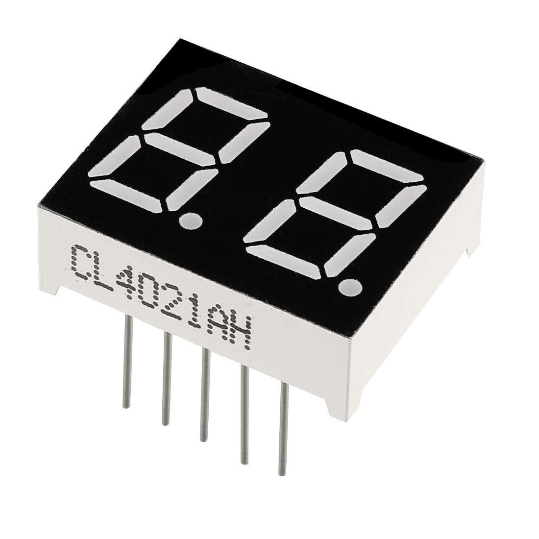"Common Cathode 12 Pin 4 Bit 1.18 x 0.55 x 0.28 Inch 0.35/"" Red LED Display 5pcs"