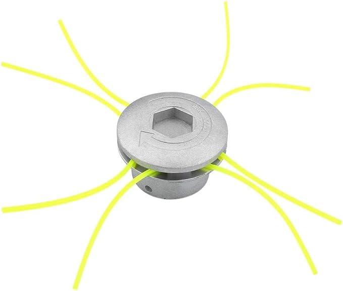 Strimmer Head - Aluminio Universal Trimmer Heads Cadena Conjunto de la Hierba Desbrozadora de Accesorios Herramientas Eléctricas en Césped del Jardín: Amazon.es: Hogar