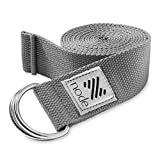 Node Fitness 8′ Premium Woven Cotton Blend Yoga Strap with D-Ring Buckle for Stretching