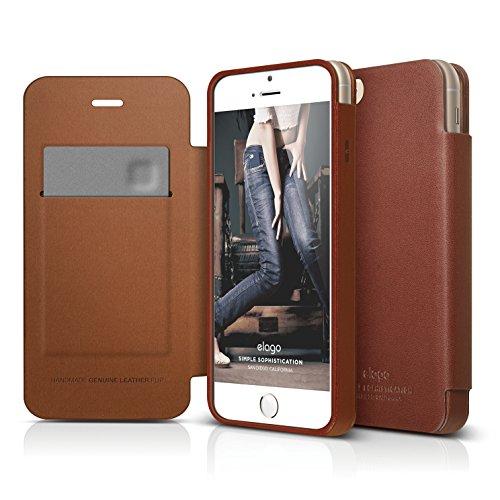 iPhone 6S Case, elago S6 Genuine Leather Flip Case for th...