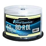 OPTICAL QUANTUM OQBDRDL06LT-50 6X 50GB BD-R DL Dual Layer Logo Top 50-PK (Optical QuantumOQBDRDL06LT-50 )