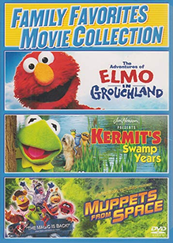 Family Favorites Movie Collection: The Adventures of Elmo in Grouchland / Kermit's Swamp Years / Muppets From Space