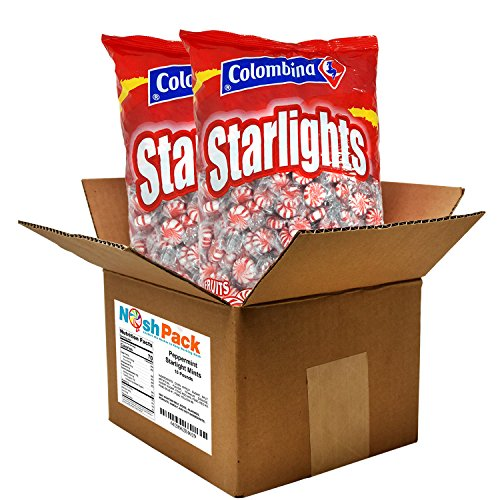 Nosh Pack Peppermint Starlight Mints Individually Wrapped Candy Bulk 10 Pounds - Approx. 800 Mints by NOSH PACK (Image #2)