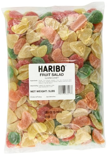 Haribo Gummi Candy, Fruit Salad, 5-Pound Bag