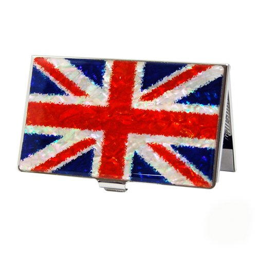 Mother of Pearl RFID Blocking Protection Union Jack UK En...