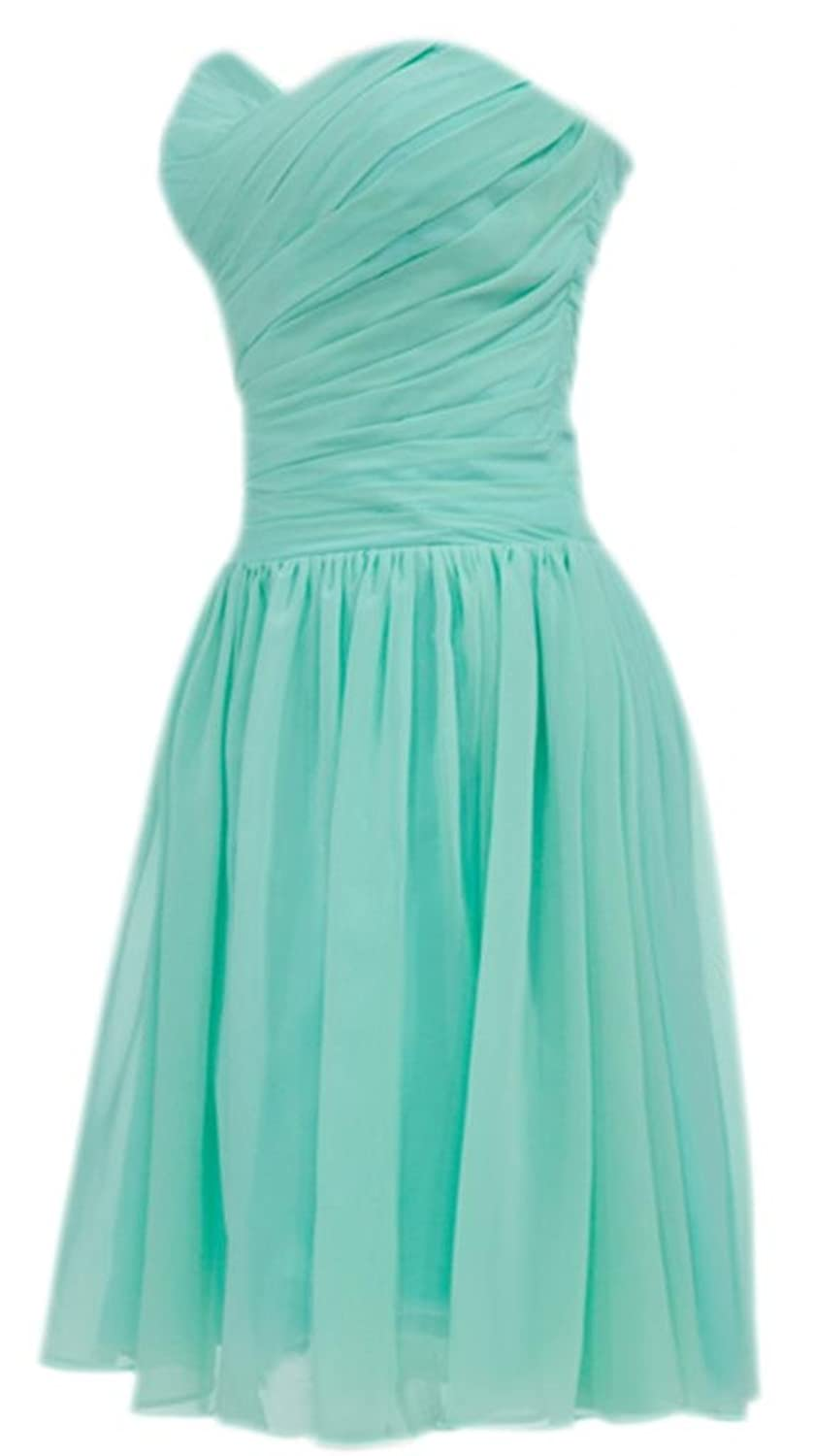 PrettyDresses Women\'s Mint Green Short Bridesmaid Prom Wedding Party ...