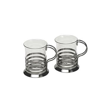 Teetassen Glas leonardo balance teegläser teetassen glas und edelstahl 2er