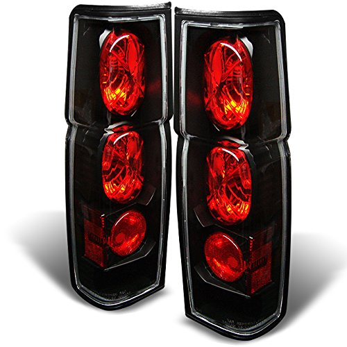 For 1986-1997 Nissan Hardbody D21 Pickup Truck Black Tail Brake Lights Lamp Left + Right Pair