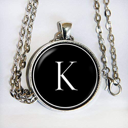 Classy Initial necklace - letter, alphabet