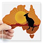 CafePress Australia Kangaroo Square Sticker Bumper Sticker