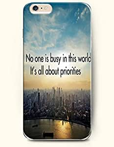 SevenArc Hard Phone Case for Apple iPhone 6 Plus ( iPhone 6 + )( 5.5 inches) - No One Is Busy In This World It'S...