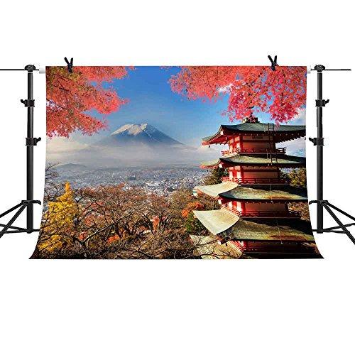 Japan Views Backdrop MME 10x7Ft Fujiyama Kiyomizu Temple Background Fall  Maple Leaf Video Props Photo GEME701 6402eefb7e