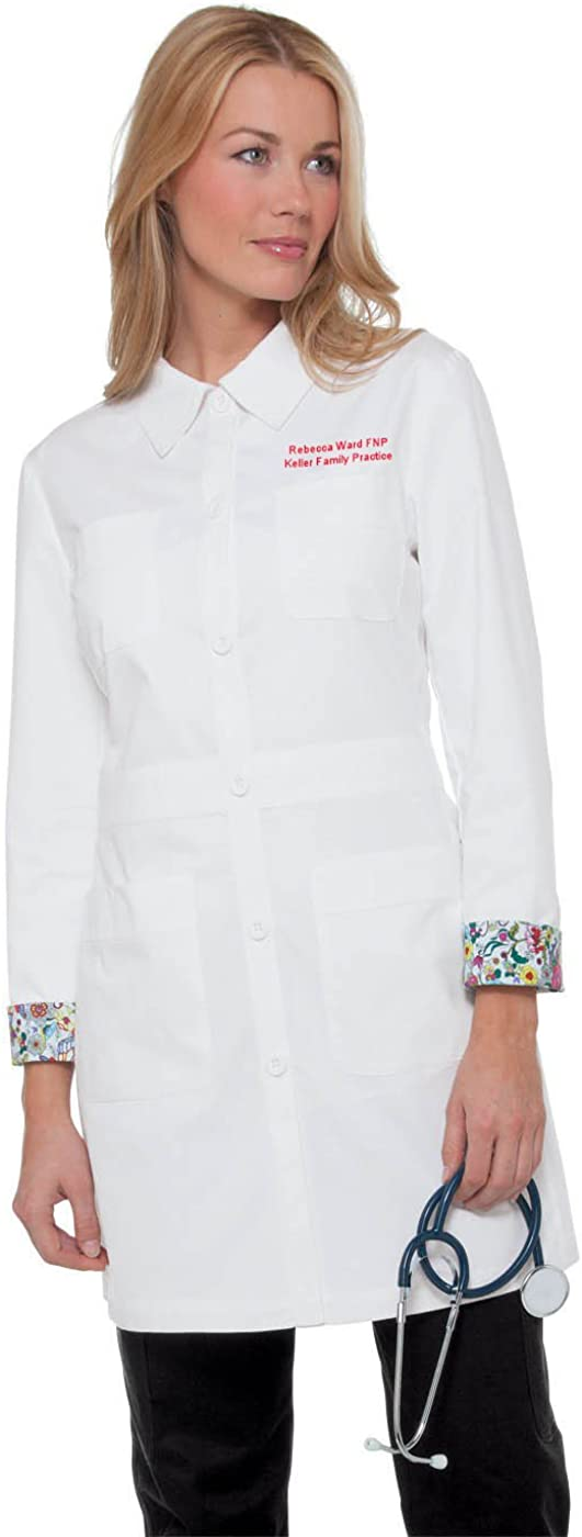 Embroidered Koi Rebecca Lab Coat 419