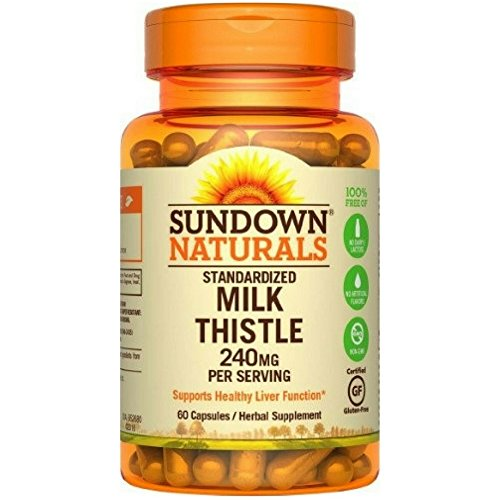 - Sundown Milk Thistle 240mg , 60 Capsules ea ( Pack of 6)